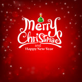 Christmas typography, handwriting Merry Calligraphic Lettering o Stock Photos