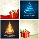 Christmas typography labels design and vector Stock Image