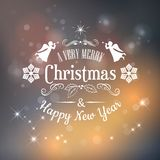 Christmas typography Royalty Free Stock Photography