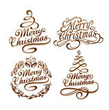 Christmas typography set Stock Photography