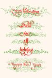 Christmas Typography Swirls Royalty Free Stock Images