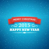 Christmas typography vector background. Merry Christmas typography styled vector background. Greeting card for 2015 new year. Bokeh lights backdrop royalty free illustration