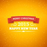 Christmas typography vector background. Merry Christmas typography styled vector background. Greeting card for 2015 new year. Bokeh lights backdrop vector illustration