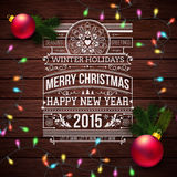 Christmas typography for your winter holidays design. Royalty Free Stock Photos