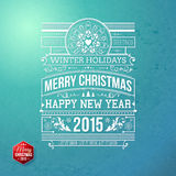 Christmas typography for your winter holidays design. Stock Photography