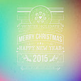 Christmas typography for your winter holidays design. Royalty Free Stock Photo