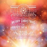 Christmas typography for your winter holidays Stock Images