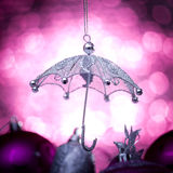 Christmas umbrella Royalty Free Stock Images