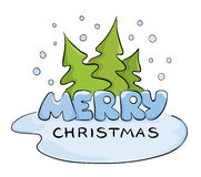 Christmas under the Christmas trees Royalty Free Stock Photography