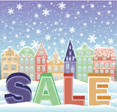 Christmas urban sale card Stock Images