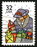 Christmas US Postage Stamp Stock Photography