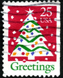 Christmas US Postage Stamp Stock Photo
