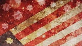 Christmas. Usa Flag and Stars. Christmas. Usa Flag Snow and Stars royalty free stock image
