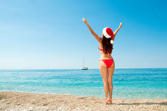 Christmas vacation on a beach resort. Royalty Free Stock Photo