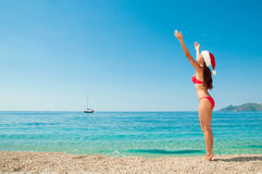 Christmas vacation on a beach resort. Stock Images