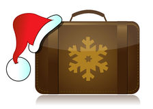 Christmas vacation luggage Stock Photos