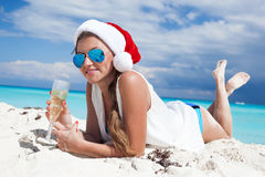 Christmas vacation on tropical beach Royalty Free Stock Image