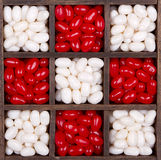 Christmas or Valentine candies in a box Stock Photo