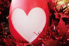 Christmas or valentine heart greetings Royalty Free Stock Photos