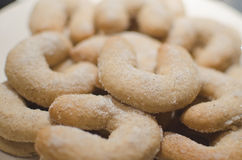 Christmas vanilla crescent biscuits royalty free stock images