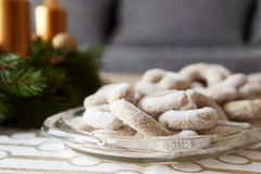 Christmas vanilla rolls with sugar Stock Photography