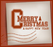 Christmas Varsity Stamp Royalty Free Stock Photography