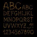 Christmas vector alphabet Royalty Free Stock Photos