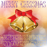 Christmas vector alphabet Stock Photo