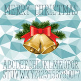 Christmas vector alphabet Stock Image
