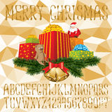 Christmas vector alphabet Royalty Free Stock Photo