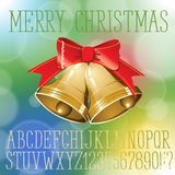 Christmas vector alphabet Royalty Free Stock Image