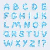 Christmas vector alphabet Stock Photo