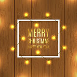 Christmas vector background with Christmas lights Stock Photos