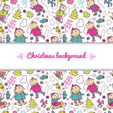 Christmas vector background Royalty Free Stock Photo