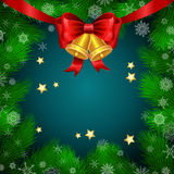 Christmas vector background with fir twigs Stock Photography