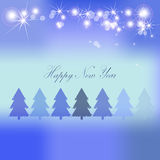 Christmas vector background forest Stock Image