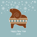 Christmas vector background with gingerbread sheep. Royalty Free Stock Photos
