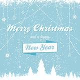 Christmas vector background with message bue Stock Image
