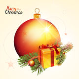 Christmas vector background. Christmas and new year vector ball. illustration on light background royalty free illustration