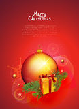 Christmas vector background. Christmas and new year vector illustration on red background stock illustration