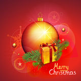 Christmas vector background. Christmas and new year vector illustration on red background Stock Images