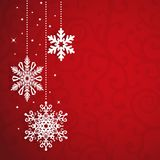 Christmas Vector Background with Snowflakes Stock Photography