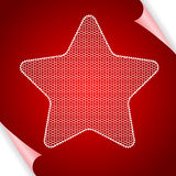 Christmas vector background with star of lace Stock Image