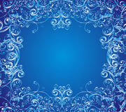 Сhristmas vector background whit floral ornament Royalty Free Stock Photos