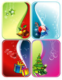 Christmas vector backgrounds. Over diferent colors Stock Image