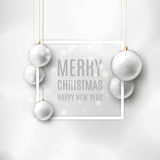 Christmas vector banner with Christmas toys Royalty Free Stock Image