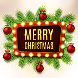 Christmas vector banner with red balls Royalty Free Stock Image