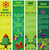 Christmas vector banners Stock Image