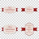 Christmas Banners, Labels or Badges Collection. Christmas vector Banners, Labels or Badges Collection isolated on transpatent Background Royalty Free Stock Photo
