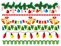 Christmas vector border Stock Photo